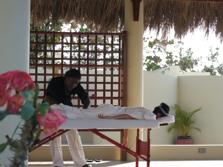 Enjoy a relaxing massage or spa service in our outdoor SPA pavilion