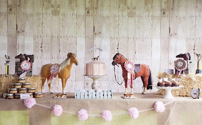 Horse Birthday Decorations | Vintage Pony Party Planning Ideas Supplies Idea Cake Decorations