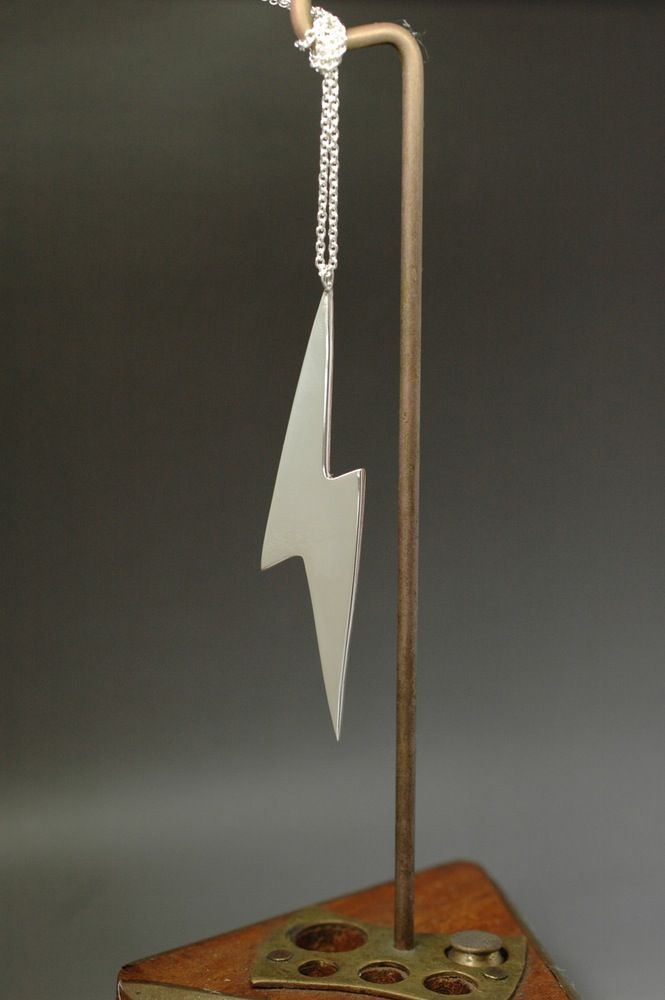 reversible lightening bolt necklace