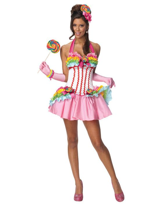 candy halloween costumes | Candy Sweet Sugar California Girl Sexy Womens Halloween Costume XS L