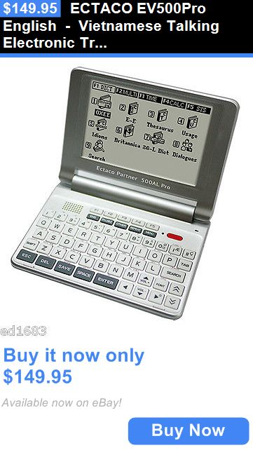 Dictionaries and Translators: Ectaco Ev500pro English - Vietnamese Talking Electronic Translator Dictionary BUY IT NOW ONLY: $149.95