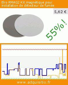 Elro RMAG2 Kit magnétique pour installation de détecteur de fumée (Outils et accessoires). Réduction de 55%! Prix actuel 5,62 €, l'ancien prix était de 12,59 €. https://www.adquisitio.fr/elro/rmag2-kit-magn%C3%A9tique