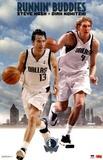 Dallas Mavericks Dirk Nowitzki Steve Nash Runnin' Buddies Sports Poster Print Photo