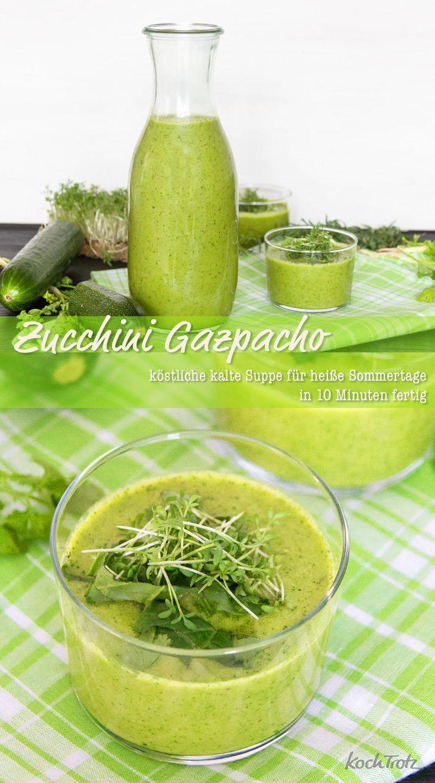 Gazapacho de abobrinha   – Zucchini Rezepte