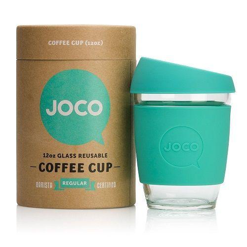 Sleek JOCO Reusable Coffee Cup in mint. Christmas gift ideas. teacher appreciation gifts.
