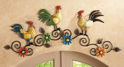 Rooster Kitchen Metal Wall Art