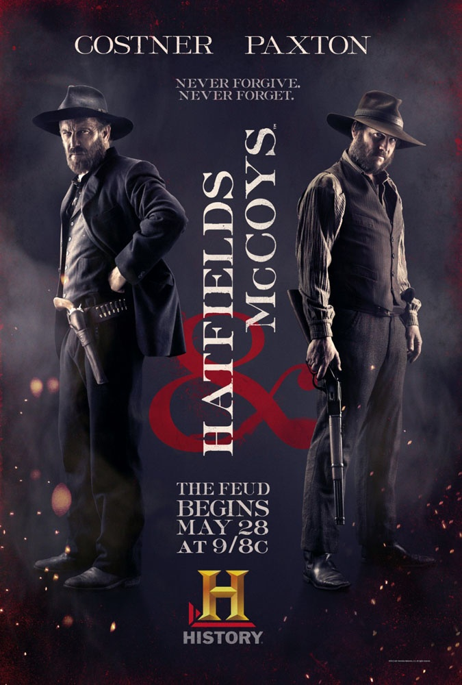 Hatfields and McCoys...this miniseries has been captivating. Can't wait to watch the final episode tonight!