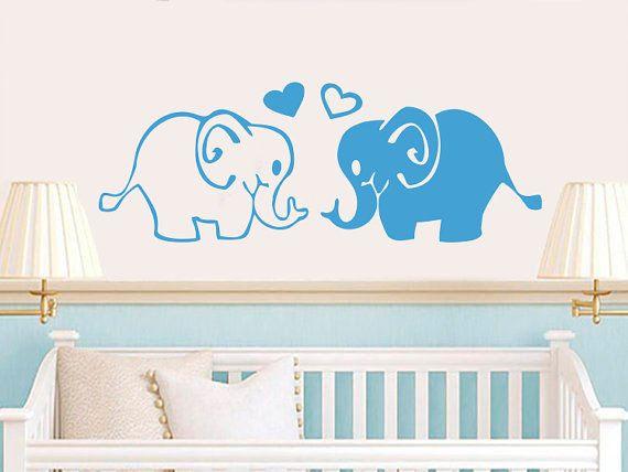 Elefante famiglia muro decalcomanie elefanti animali Vinyl Decal Sticker Home Interior Design Arte murale per bambini Nursery Baby Room Wall Decor NS936