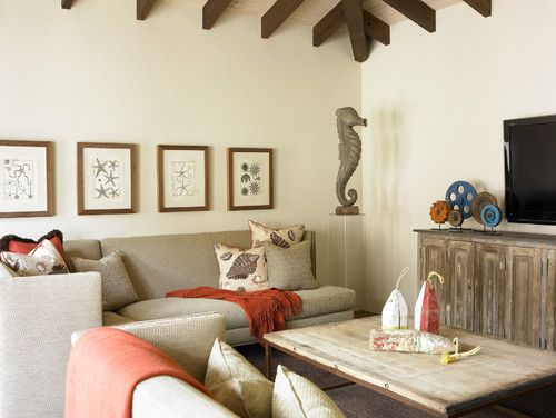 Tropical family room by Carter Kay Interiors