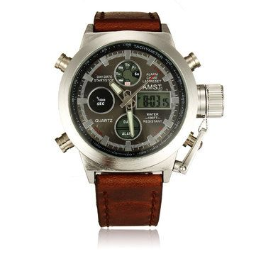 Only US$14.99 , shop AMST 3003 White Case Canvas And Leather Band Sport Watch at Banggood.com. Buy fashion Men Watch online.