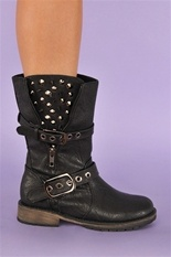 Guns N Roses Rocker Boot - Black