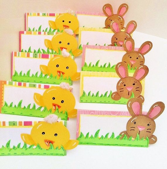 easter table place setting name tags by sammiesuedesigns
