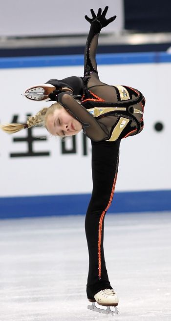 Elena Radionova of Russia squeaks into first in Junior Ladies at Grand Prix Final