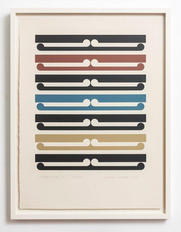 Gordon Walters, Kura, 1982.  Silkscreen print.