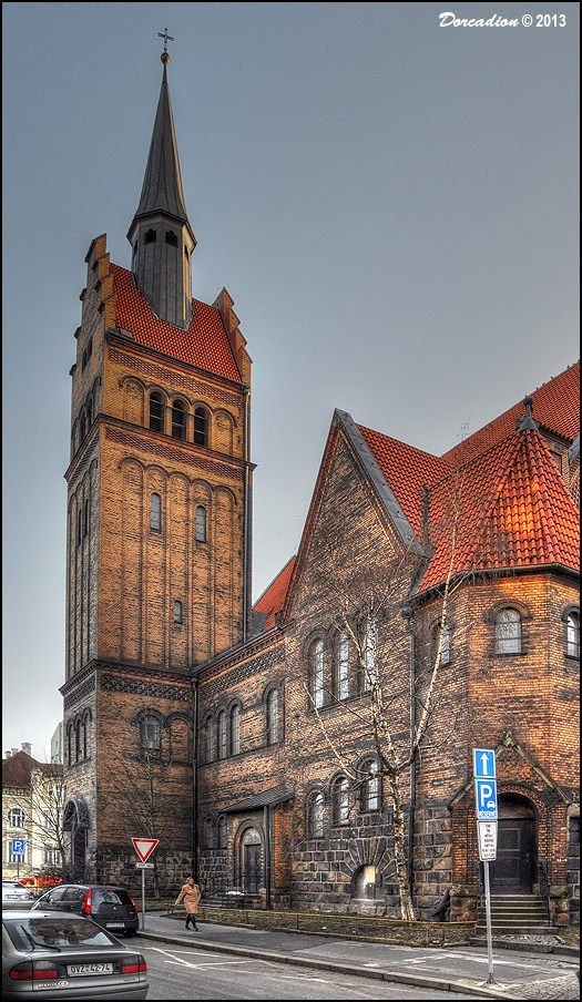 Evangelical Christ' Church (Evangelický Kristuv kostel), built in 1907 and one of the most beautiful buildings in city of Ostrava, serves as main church for two Lutheran churches in the region.