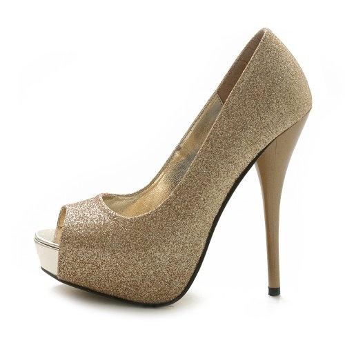 Ollio Women's Platform Stiletto Glitter High Heels Multi-Color Shoes  From Ollio. Price: $18.99