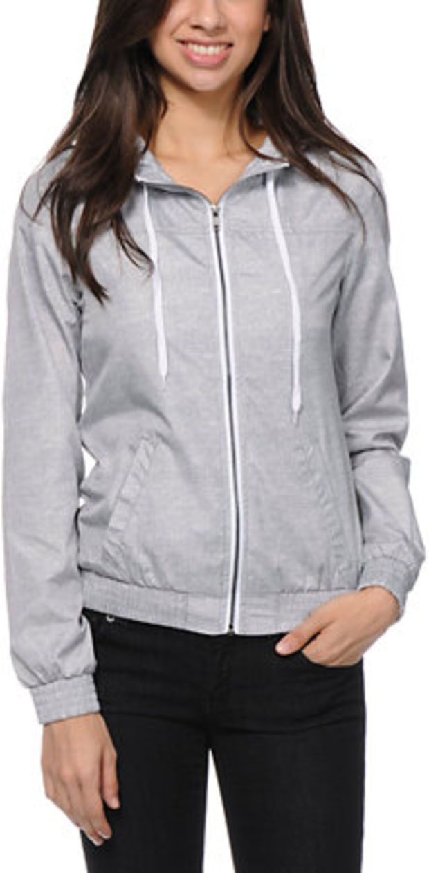 50 best zumiez images on pinterest zine for girls and pullover zine girls printed grey windbreaker jacket at zumiez pdp ccuart Images