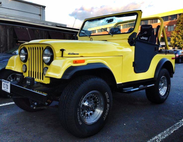 Jeep Renegade Lifted >> Beautiful yellow CJ Jeep in West Hartford, CT | Jeep Life ...