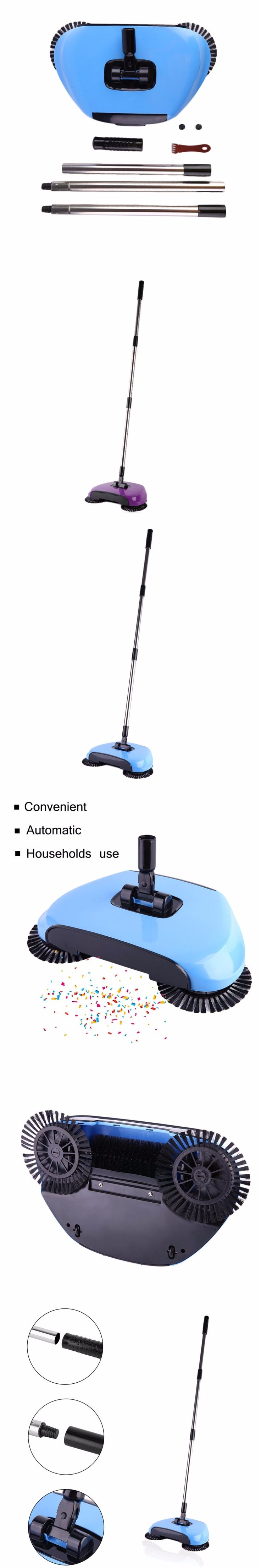 2 Color Hand Push Type Sweeping Machine Household Plastic Broom And Dustpan Set Vacuum Floor Cleaner Gift Hand-Propelled Sweeper