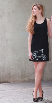 Sundress 100% cotton limited edition hand painted by Berlato