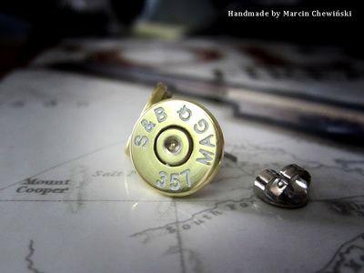 Kolczyki z denka łuski kal. .357 magnum