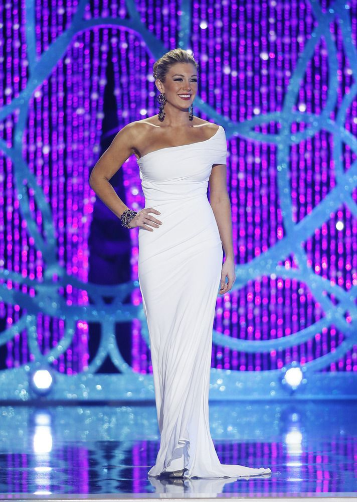 Mallory Hagan, Miss America 2013-The Gown that will motivate me to stick with my exercise routine