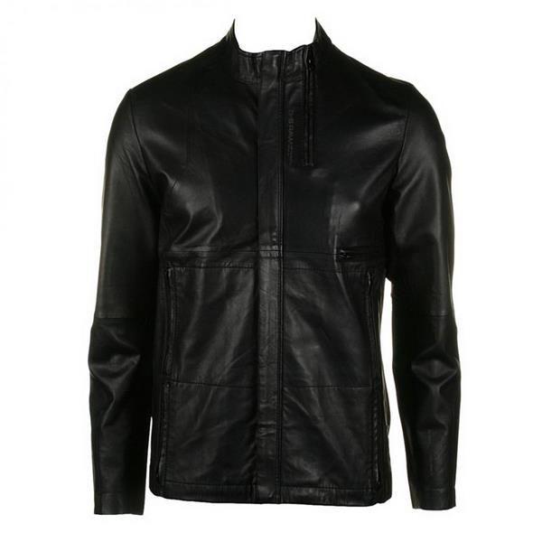 Кожаная мужская демисезонная куртка