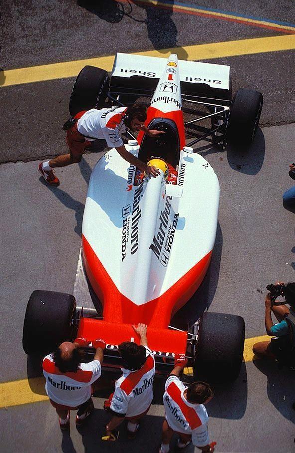 The mythical 1991 McLaren Honda V12 MP4/6 ——— — Ayrton