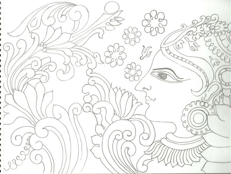 Varnavismayam few more drawings indian paintings for Mural art designs