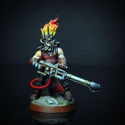 """Le caporal Rand est un ancien soldat de l'Astra Militarum. Un bon  soldat.  Avec une tendance à la pyromanie. Son """"œuvre"""" la plus  ambiti..."""