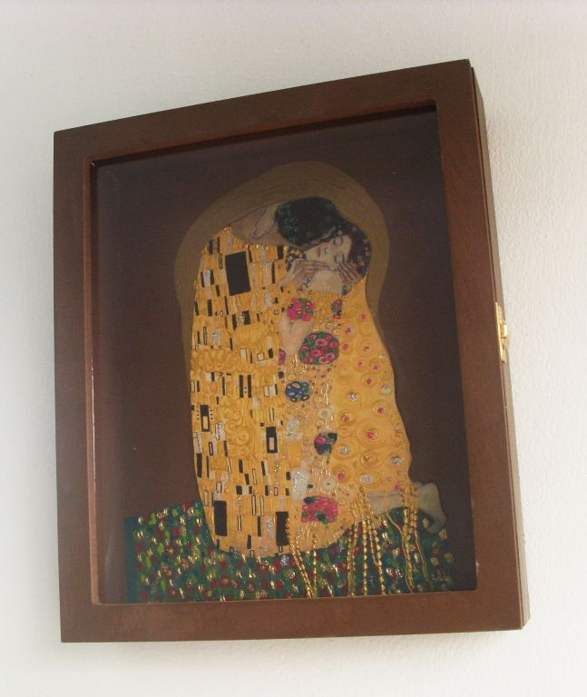 "WEDDING CROWN DISPLAY BOX - STEFANOTHIKI ""KISS"" - KLIMT"