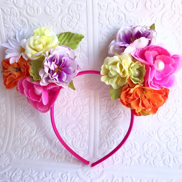 Minnie Ears Hawaiian Headband