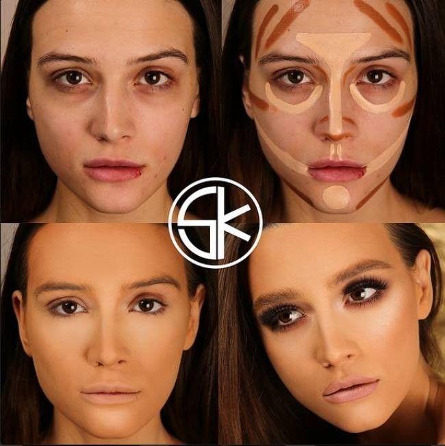 Megmutatjuk nektek az összes létező arcformát és a hozzájuk tartozó tökéletes sminkelés minden csínját - bínját teljesen egyértelműen és részletesen fotókkal lépésről lépésre. Nincs szükséged többé profi sminkesre, mikor Te magad is az lehetsz :) Próbáljátok ki Ti is! :) 4