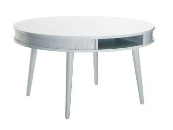 HUGO Soffbord Oval 140 Vit - Soffbord - Bord - Inomhus