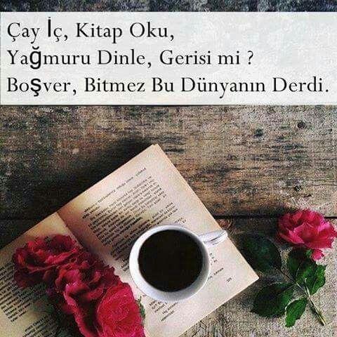 Çay, kitap, yağmur..