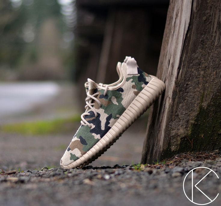 "adidas Yeezy Boost 350 ""Camo"" Custom by Kendra's Customs