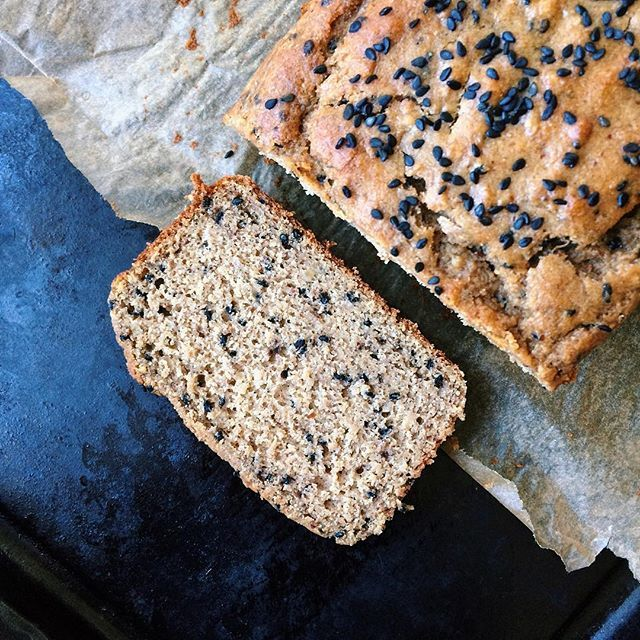 Black Sesame And Tahini Banana Bread