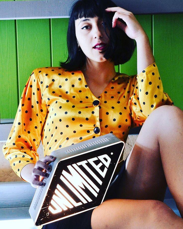 Yellow polka dots shirt