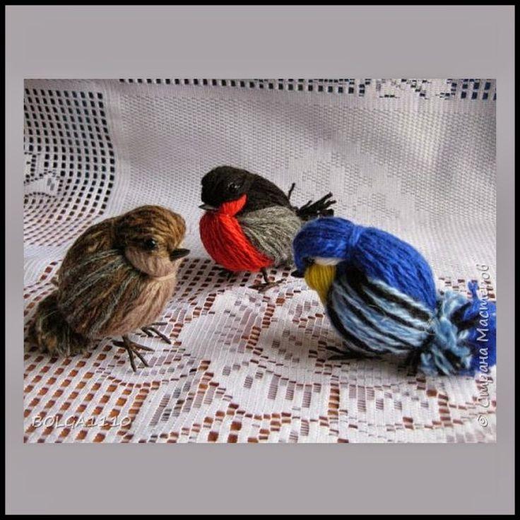 Birds Made From Yarn / Wool