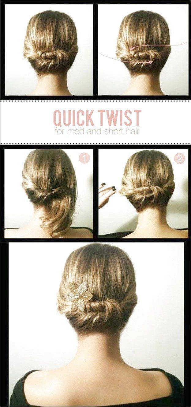 Easy Hairstyles for Work Quick Twist Quick and Easy Hairstyles For