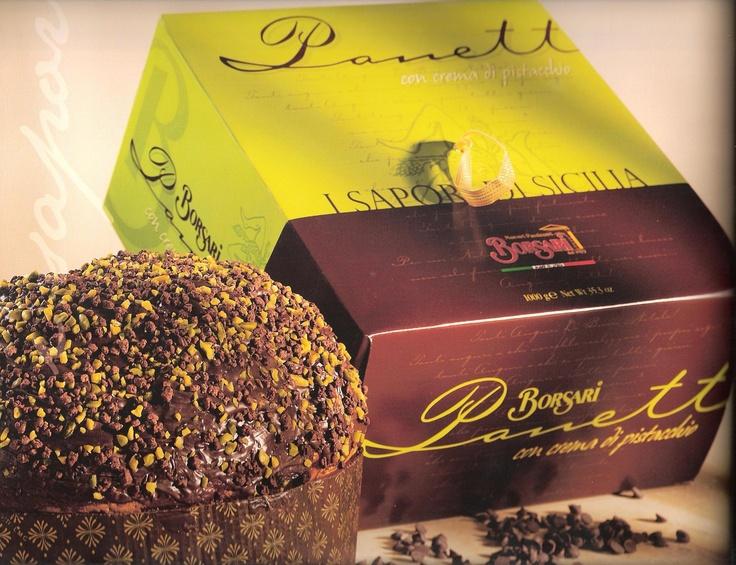 Borsari cream & pistachio panettone