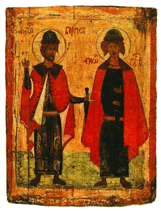 XIV в.  Борис и Глеб