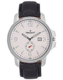 Trident Quebec watch - with two dials so you can keep up the second in style! For more information visit http://mytrident.co.za/products/quebec-mens and buy it with http://www.zando.co.za/Trident-Quebec-Mens-Watch-PU-Leather-Black-120158.html