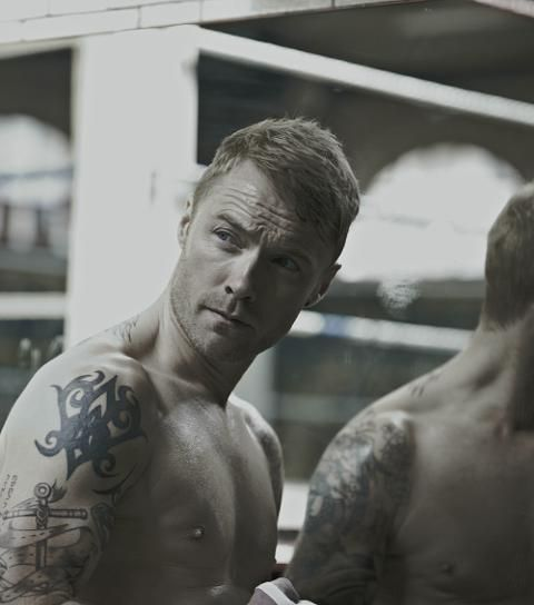 Ronan Keating calendar 2012 shot.