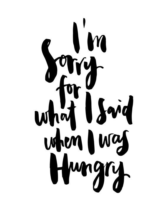 I'm Sorry For What I Said When I Was Hungry by planeta444 on Etsy