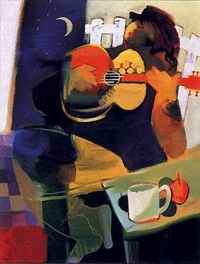 My Enjoyment ~ Hessam Abrishami (Iran, 1951-  ) is an Iranian artist who lives in California, United States. Born in the city of Shiraz, Iran.