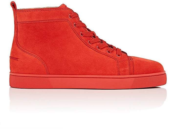 26a8bcc52cd1 ... temperament shoes 7646e dbf24 Christian Louboutin Mens Louis Flat Suede  Sneakers ...
