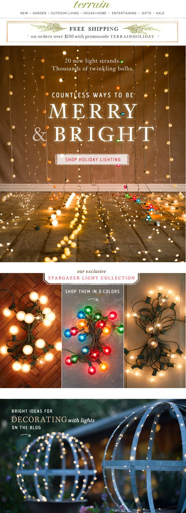 20 new strands of #holiday #lights. Countless ways to feel merry and bright at #shopterrain November 2