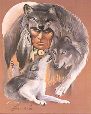 American Indian Art - I Am Wolf
