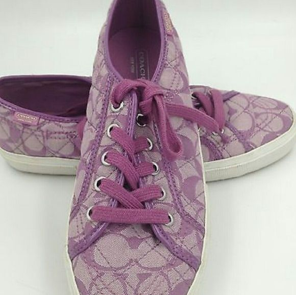 ONE DAY SALE GET IT NOW Signature coach sneakers -price is firm -lightly worn  -smoke free home -no trades -no paypal PINK Victoria's Secret Shoes Sneakers